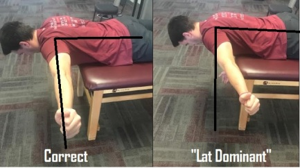 Lat dominant prone T